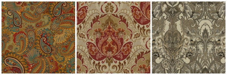 Bohemian fabric collage