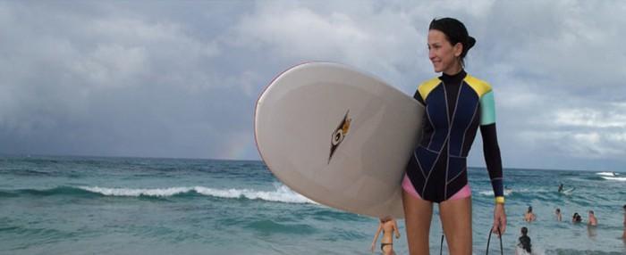 Cynthia surfing