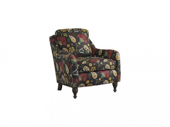 benson club chair dark op art floral sam moore