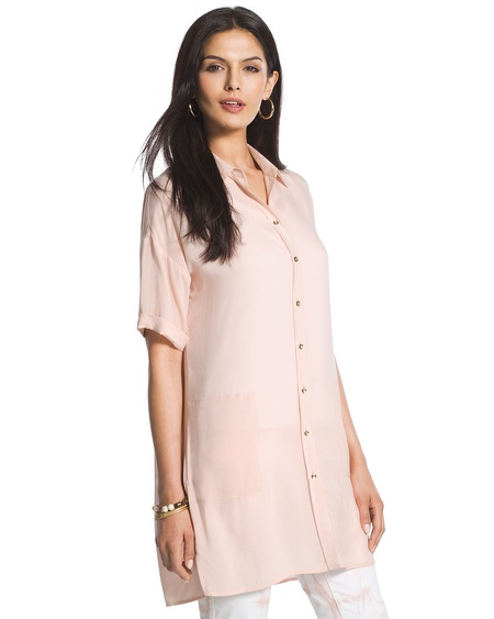 blush tunic-length shirt - chicos