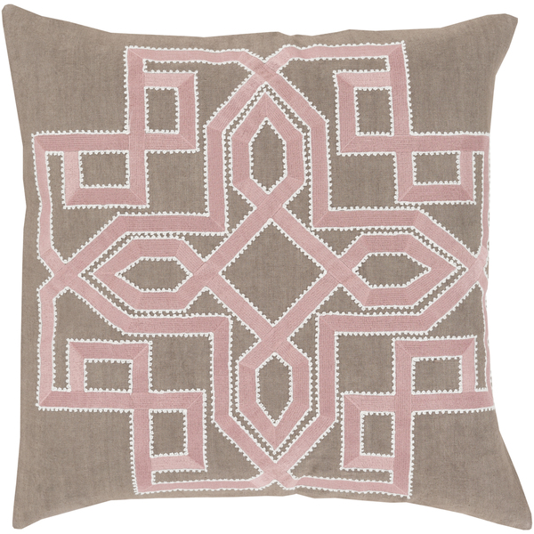 garcia geo pillow gray and blush surya at overstock