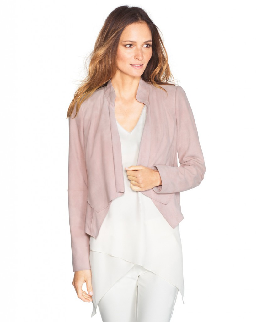 rose mist suede jacket WHBM big photo