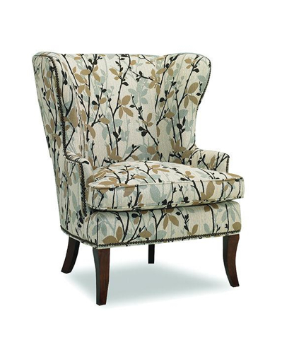 In a wintery forest print, the Hamlin wing chair is seasonally splendid. Photo: Sam Moore