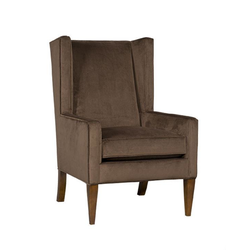 Drink in the luxe look of Simone, a gorgeous wing chair sheathed in rich chocolate velvet. Photo: Sam Moore