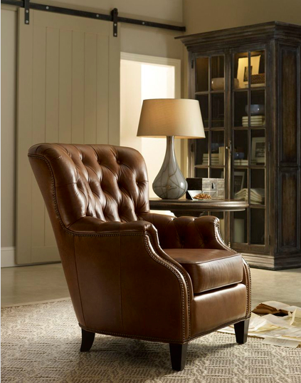 The Aegis Glove club chair hits a home run in style and comfort. Photo: Hooker Furniture