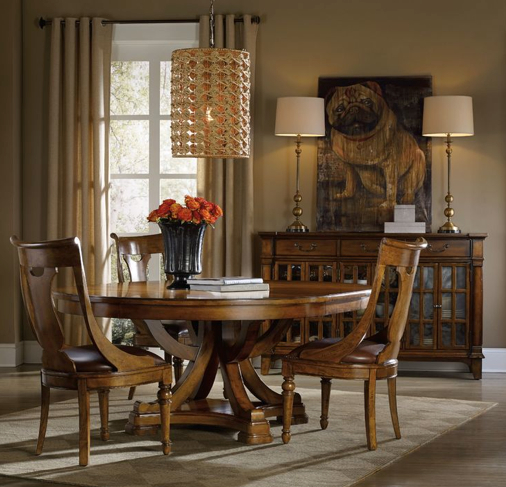 Named for an area of the Northern English countryside, the Tynecastle dining collection is inspired by manor homes and equestrian life. hookerfurniture.com