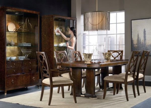 Take dining to stylish new heights at the Skyline Trestle table, hookerfurniture.com