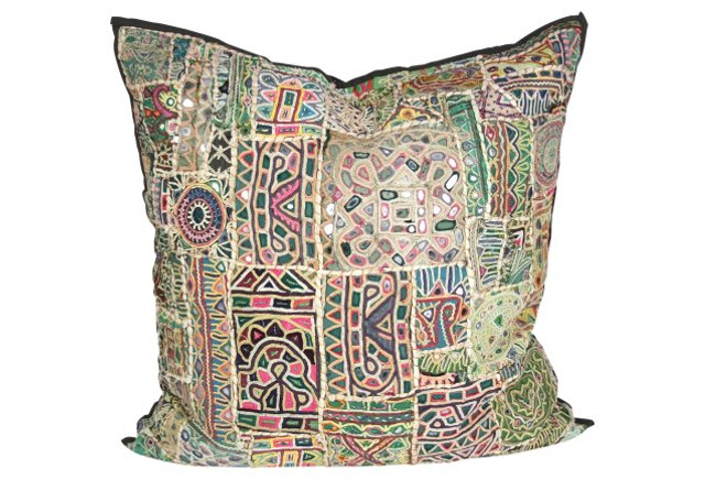 geometric mosaic pastel pillow one kings lane