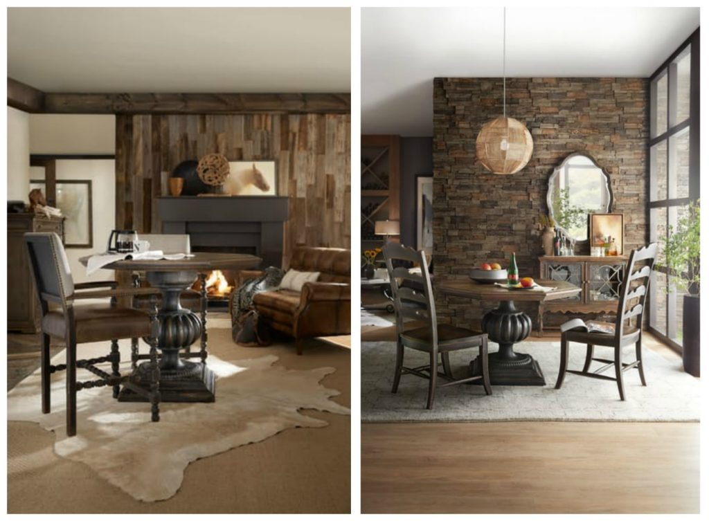 The Blanco Table Easily Adjusts To Bistro Table Height, Left; Or Dining  Table Height, Along With Foyer Table Height. Hooker Furniture