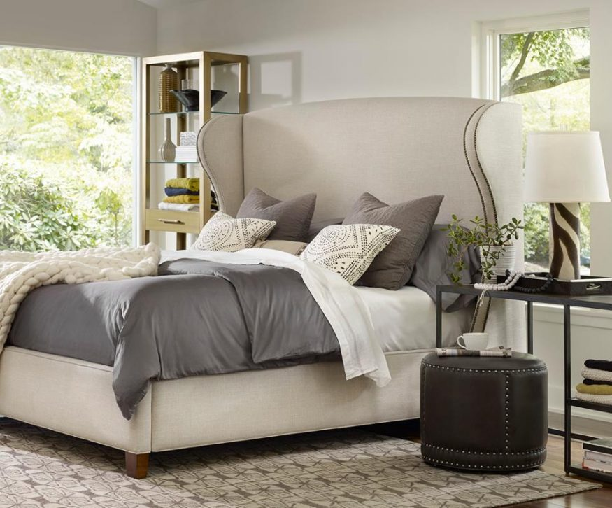 Trend The Heron Upholstered Shelter Bed is a restorative haven from your harsh routine Photo Hooker Furniture