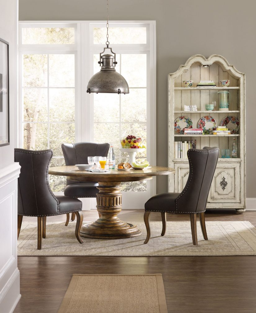 chairs sheathed in soft leather refine what it means to dine fine photo hooker furniture