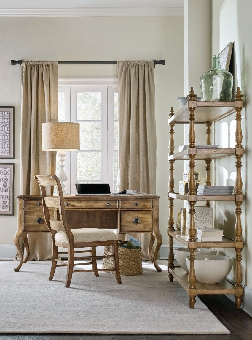 Home furnishings blog by hooker furniture evoking the feel of a well traveled diary the archivist writing desk boasts both european and american style photo hooker furniture amipublicfo Choice Image