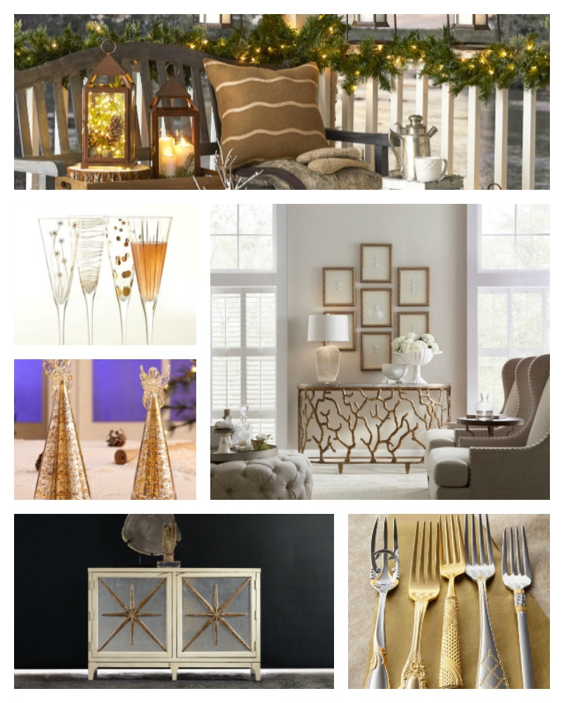 Photo Credit: Lanterns And Angel Trees: Jossandmain.com; Champagne Flutes:  Horchow.com; Furniture: Hooker Furniture