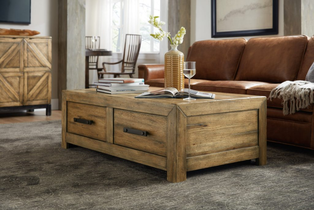 ... Of Walnut And Hickory, The Roslyn Country Rectangle Cocktail Table  Delivers Heirloom Beauty, The Warmth Of Woodu2026and More. Photo: Hooker  Furniture