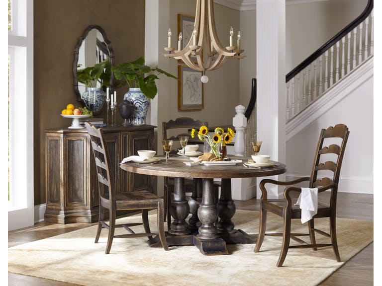 ... At 60 Inches Round Is The Perfect Setting For A Relaxed Sunday Lunch  When Family Members Come Indoors After Outdoor Activities. Photo: Hooker  Furniture
