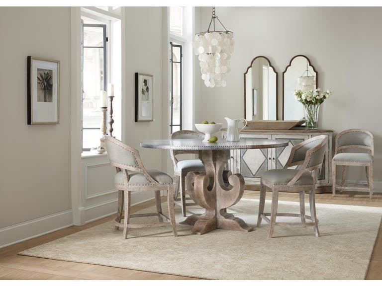 The Lyrical Design Of This 60 Inch Boheme Dining Table Makes It The Ideal  Setting For A Romantic Candlelight Dinner. Hooker Furniture.