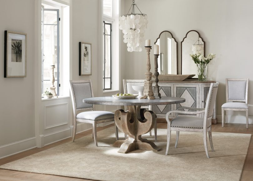 For A Fresh Dining Space, Itu0027s Hard To Beat The Charm Of The 60 Inch Round  Boheme Round Dining Table. Itsu0027 Zinc Top Is On Trend, Durable And Perfect  For ...